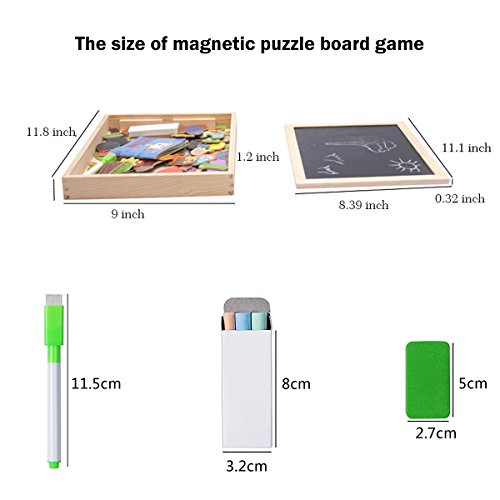 Wondertoys Magnetic Puzzle Art Easel Board Games with Dry Erase Educational Toys for Children by Wondertoys (Image #6)