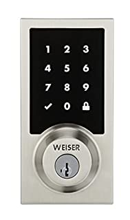 Weiser Premis Touchscreen Smart Lock Compatible with Apple HomeKit, Electronic Deadbolt Featuring SmartKey, Satin Nickel (9GED22000-001) (B071V85CPR) | Amazon price tracker / tracking, Amazon price history charts, Amazon price watches, Amazon price drop alerts