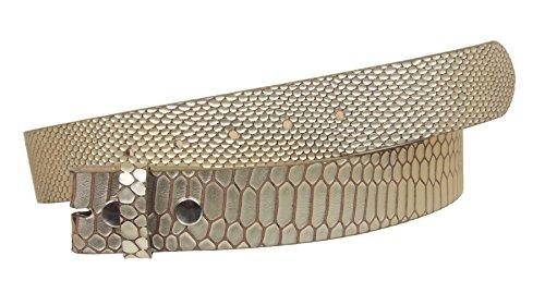 Leather Snake Genuine Belt (1 1/2