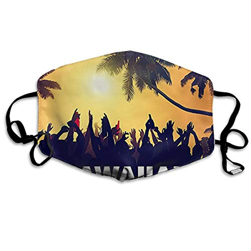 Mr.Roadman Unisex Mouth Mask Hawallan Beach Party Polyester