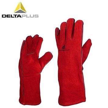 ARBUYSHOP guantes Wearable alta temperatura retardantes de guantes de soldador Delta Plus Venitex Kevlar Cosido cuero de aislamiento sobre soldadura de ...