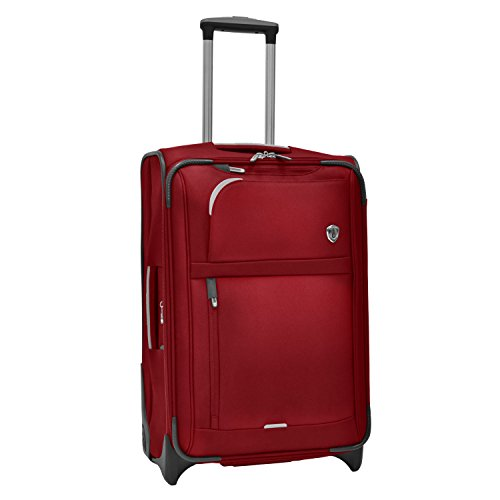 Traveler's Choice  Birmingham Lightweight Expandable Rugged Rollaboard Rolling Luggage - Red (25-Inch)