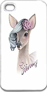iPhone 4S Case Snap on iPhone 4S Back Cover Skin Slim Fit Protective Beauty deer
