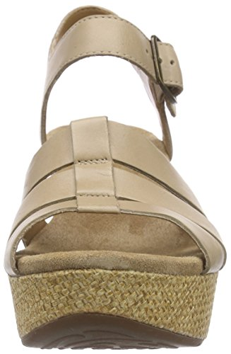 ClarksCaslynn Harp - Sandalias con Cuña mujer Beige (Sand Leather)