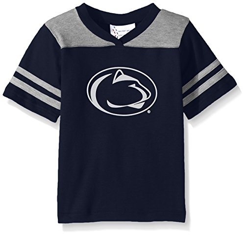 Two Feet Ahead NCAA Penn State Nittany Lions Toddler Boys Football Shirt, Navy, -