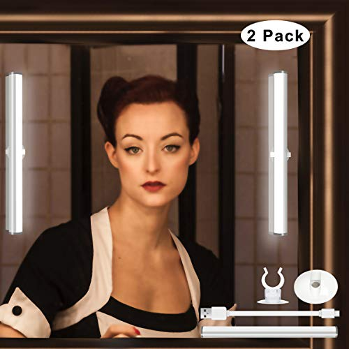 LED Mirror Light Benature Wireless Portable Rechargeable Touch Control Vanity Makeup Lights -