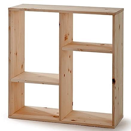 Scaffale libreria mobile da ufficio in legno massello grezzo abete ...