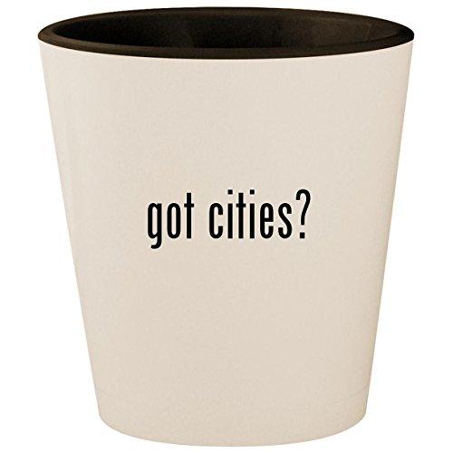 got cities? - White Outer & Black Inner Ceramic 1.5oz Shot Glass for $<!---->