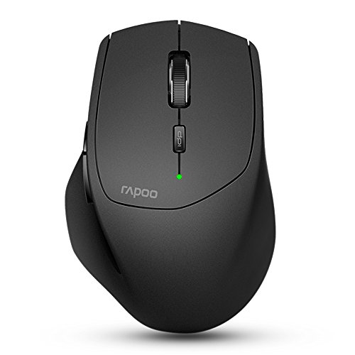 Rapoo Multi-mode Wireless Mouse Switch between Bluetooth 3.0/4.0 and 2.4G for Four Devices Connection