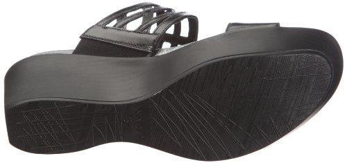 Sanita Bonita N38028-n030 - Zuecos de cuero para mujer Negro