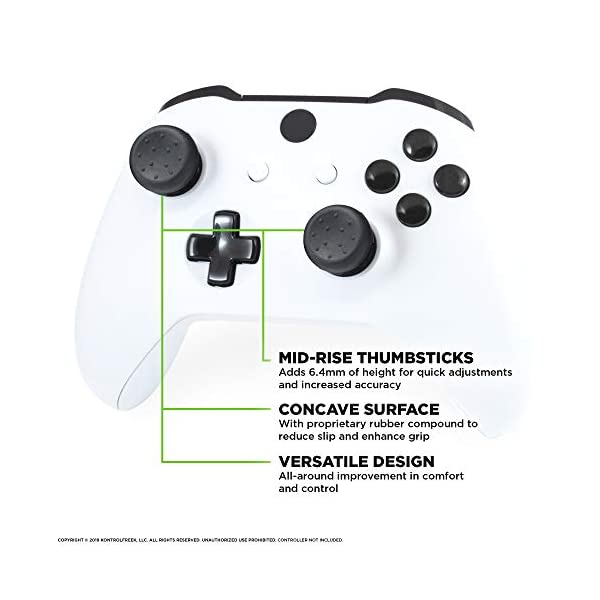 KontrolFreek FPS Freek CQC for Xbox One Controller | Performance Thumbsticks | 2 Mid-Rise Concave | Black 2