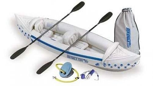 Sea Eagle 330 Inflatable Kayak Deluxe Package, Outdoor Stuffs