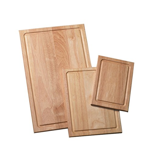 Farberware 3-Piece Wood Cutting Board Set with Drip Groove (Best Type Of Wood For Cutting Board)