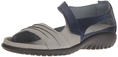 Naot Footwear Women's Papaki, Light Gray Nubuck/Polar Sea Leather, 38 M EU/7 B(M) US Light Gray Footwear