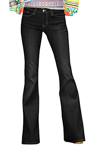 Straight Leg Bootcut Flare (Runcati Womens Super Wide Bell-bottom Jeans Flared Straight Leg Denim Pants)