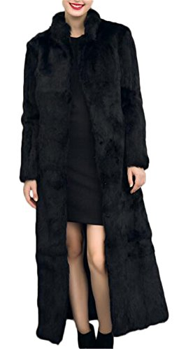 Women's Winter Fashion Long Maxi Outerwear Faux Fur Coat Full Length