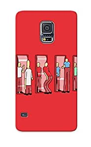 Crazinesswith Scratch-free Phone Case For Galaxy S5- Retail Packaging - Mirrors