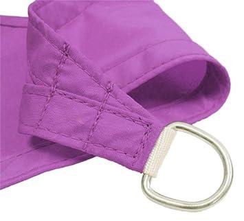 Kookaburra Waterproof Purple Sun Shade Sail Garden Patio Gazebo Awning Canopy 98 UV Block with Free Rope 17ft 9 Square