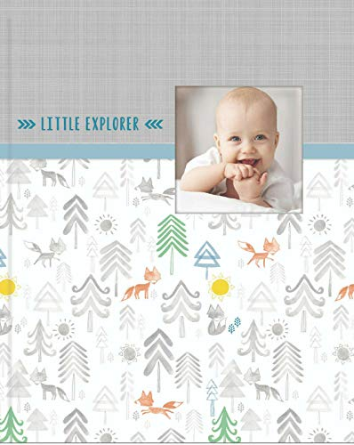 C.R. Gibson Little Explorer Perfect-Bound Memory Book for Newborn and Baby Boys, 9.5 x 10