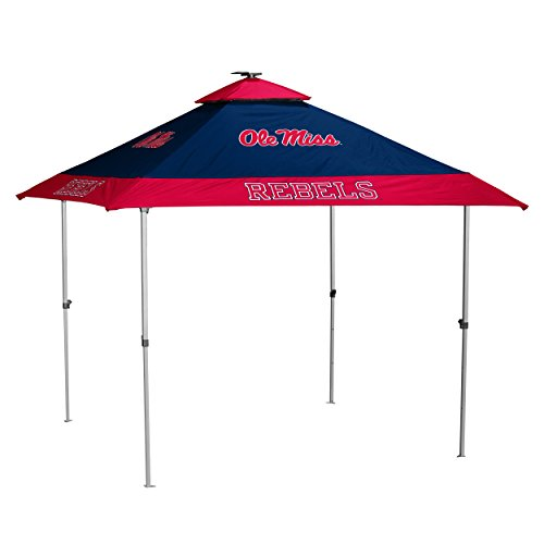 Logo Brands NCAA Mississippi Old Miss Rebels Unisex Pagoda Tent, Navy, One Size