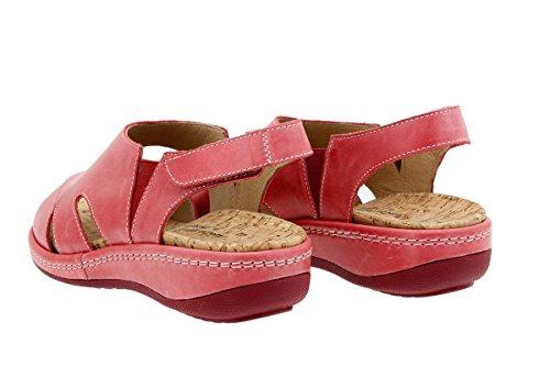 En Rojo Chaussure Confort À 1903 Cuir Semelle Sandales Amples Confortables Piesanto Femme Amovible dtqEg77