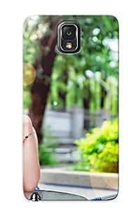 High Grade Trinalgrate Flexible Tpu Case For Galaxy Note 3 - Girl Asian