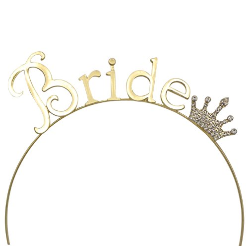 Rosemarie Collections Women's Bachelorette Party Tiara Headband Gold Tone