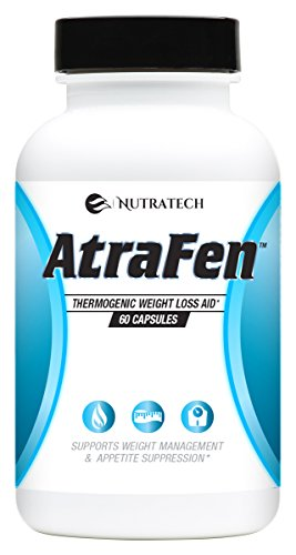 Nutratech Atrafen Powerful Fat Burner and Appetite Suppressant Diet Pill System for Fast Weight Loss, 60 Count