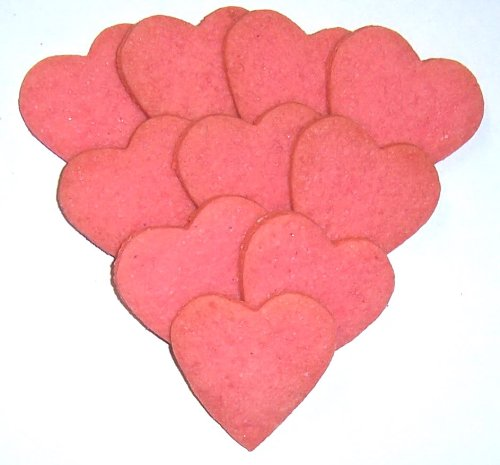 Scott's Cakes Mini Pink Heart Shaped Sugar Cookies in a 1 Pound White Bakery Box