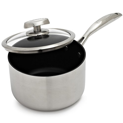 Scanpan CTQ Nonstick Saucepan with Lid 69231600 , 2 qt.