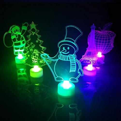 Kizaen 3D LED Light Touch Night Light Table Lamp Best Birthday Gifts Toys Bedroom Room for Kids Boys