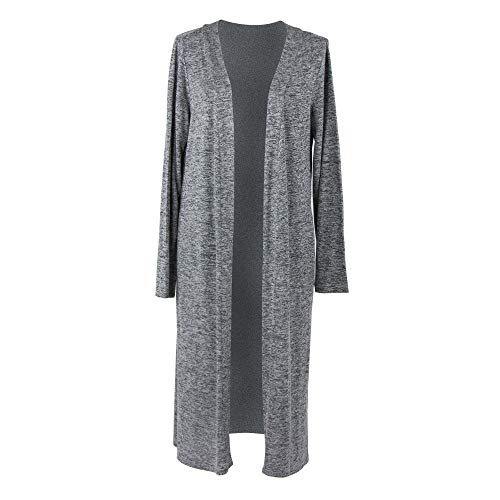 Hello Mello Carefree Threads Women's Long-Sleeve Flowing Heather Knit Cardigan ()