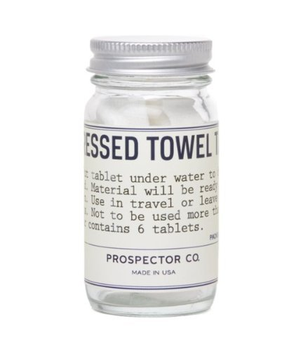 Prospector Co Compressed Towel Tablets (pack of 6)