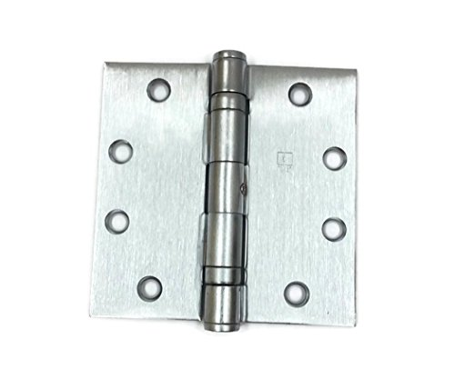 Hager Full Mortise Stainless Steel Hinge BB1191 NRP 4.5 x 4.5 US32D/630 (Satin Stainless Steel) - Box of 3 Ball Bearing hinges (Hinges Steel Bearings)