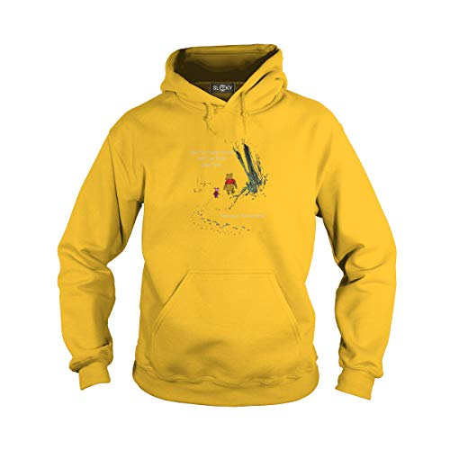 Unisex We'll Be Friends Forever Won't We Adult Hooded Sweatshirt (3XL, Yellow) ()