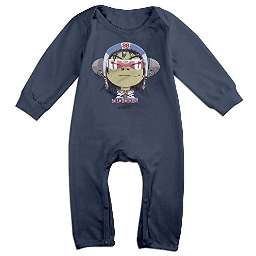 OLGB Newborn Virtual Band Cartoon Long Sleeve Climbing Clothes 6 M]()