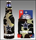 SET OF 2 DALLAS COWBOYS CAMO BOTTLE & CAN KOOZIES For Sale