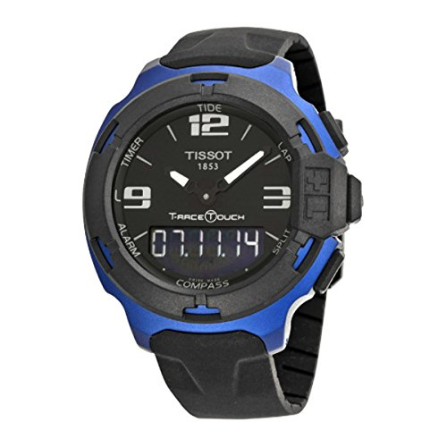 Tissot Men's T0814209705700 T-Race Touch Black and Blue Analog-Digital Watch