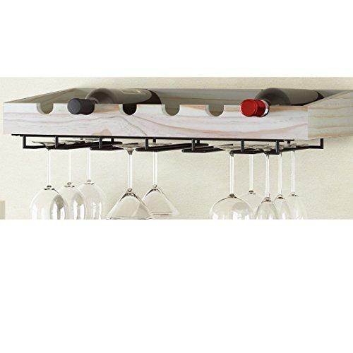 6 bottle wall mounted wine rack - 9
