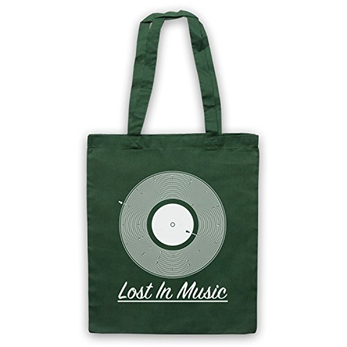 Music Vinyl Bag Record Groove Lost Green Dark Tote Maze In OUq6T