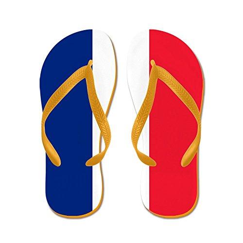 Truly Teague Kid's Flag of France Orange Rubber Flip Flops Sandals 9-11 ()
