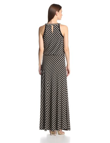 Calvin Klein Women's Stripe Keyhole-Maxi Dress