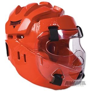 ProForce Thunder Full Headgear w/ Face Shield - Red - X-Large