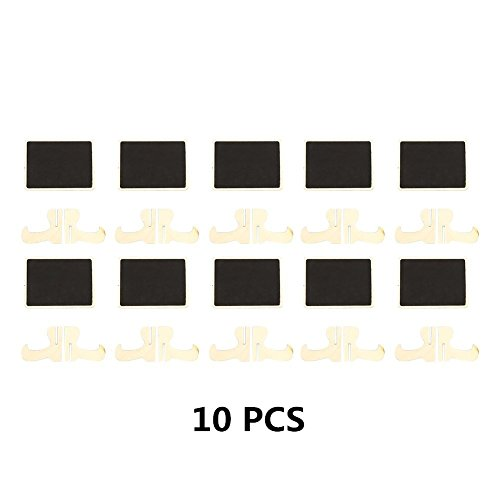 Mini Chalkboards Signs with Easel Stand Wood Blackboard for Message Board Wedding Party Table Numbers, Rectangle Set of 10 Photo #5