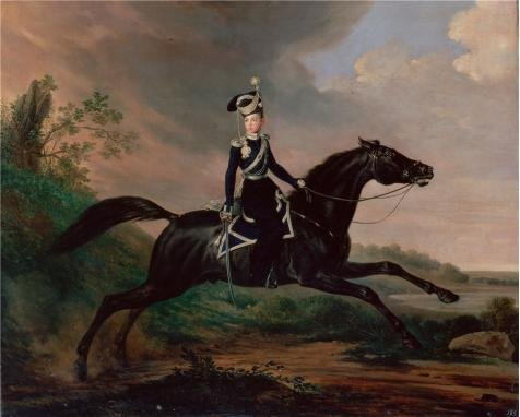 Oil Painting 'Equestrian Portrait Of Grand Prince Alexander Nikolayevich,1832 By Franz Kruger' 16 x 20 inch / 41 x 51 cm , on High Definition HD canvas prints, Basement, Living - Shopping Centre Whitfords