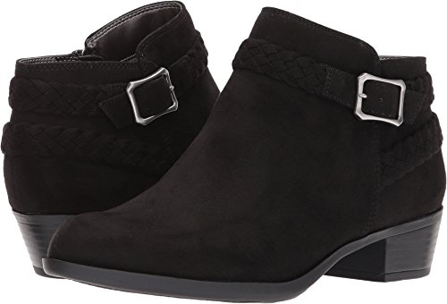LifeStride Women's Adriana Ankle Bootie Boot, Black Micro, 1