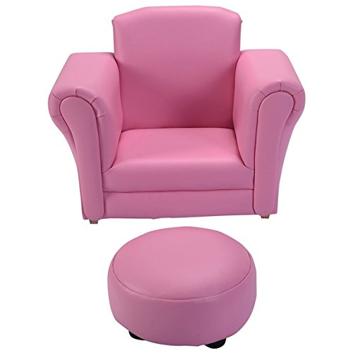 Pink Kids Sofa With Footstool Armrest Chair Couch Sleeper Children Living Room Toddler Indoor Outdoor Furniture Gift Set Comfortable Material Lightweight (Rattan Outdoor Furniture Perth)