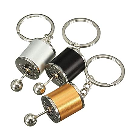 lyhhai Fashion Car Gearbox Gear Shift Racing Tuning Model Key Chain Key Fob Keyring Gold