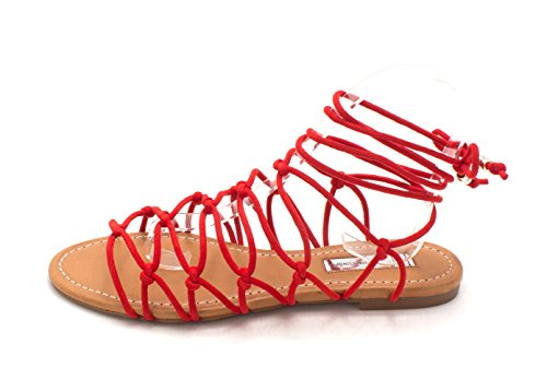 I35 Gallena Flat Lace-up Sandals - Black Red/Spring i88Rji6G9s