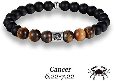 Luxury Gift Bag A605 Premium Zodiac Bead Bracelet Mens Beaded Horoscope Bracelet Jewellery